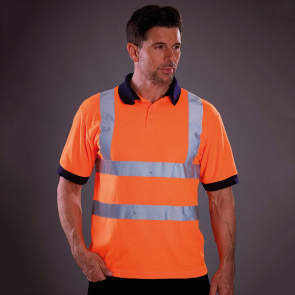 Hi Vis Short Sleeve Polo