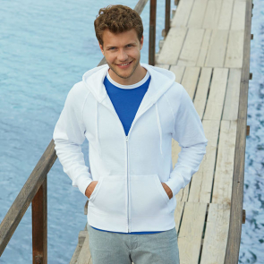 Lightweight Hooded Sweatshirt Jacket