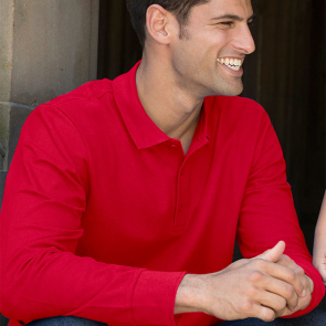 Premium Cotton Long Sleeve Double Piqué Polo