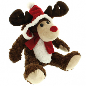 Sitting Reindeer With Hat And Scarf