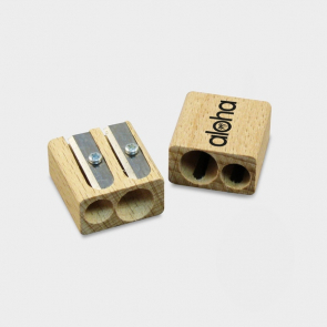 Wooden Double Pencil Sharpener