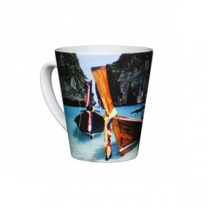 SatinSub® Latte Photo Mug