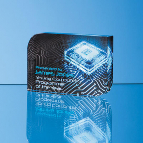 Optical Crystal Curved Rectangle Award