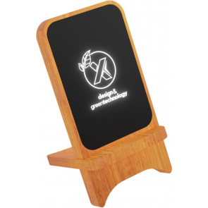 10W Light-Up Wireless Wooden Stand