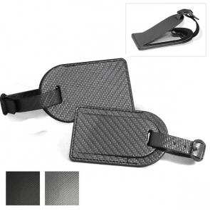 Carbon Fibre Effect Large Luggage Tag