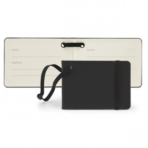 Notebook Style Luggage Tag with Elastic Retainer