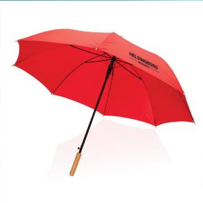 """27"""" Impact AWARE™ RPET 190T Auto Open Bamboo Umbrella"""