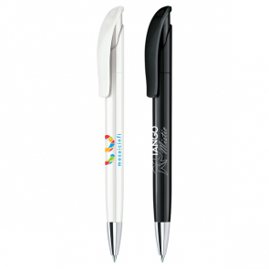 Senator Challenger Polished Plastic Ballpen With Metal Nose Cone