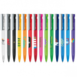 Senator Liberty Clear Plastic Ballpen With Metal Clip