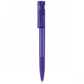 Senator Liberty Clear Plastic Ballpen With Soft Grip