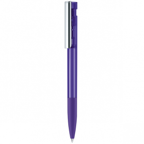 Senator Liberty Clear Plastic Ballpen With Soft Grip & Metal Clip