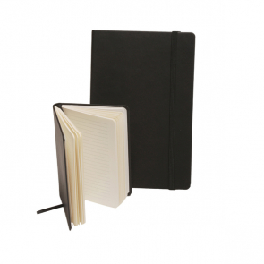 Black Torino Casebound Notebook with an elastic strap