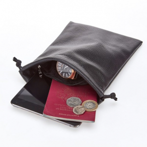 Classic Faux Leather Valuables Bag