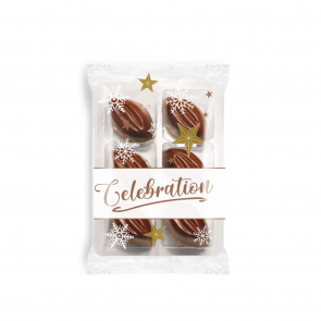 Winter Collection Flow Wrapped Tray - Cocoa Bean Truffles