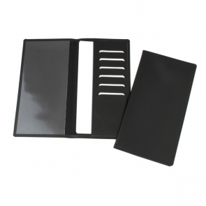 Leather Travel Wallet with one clear pocket and one material pocket with card slots