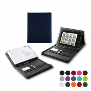 A4 Zipped Portfolio with Integral iPad Holder & Display Stand
