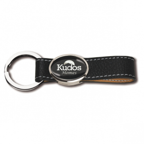 Elite Hide Leather Keyring With Polycrown Emblem