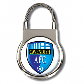 Elite Round Cable Keyring With Polycrown Emblem