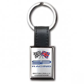 Rectangular i-zu Keyring With Polycrown Emblem