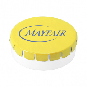 Plastic Round Container With Sugar Free Mints