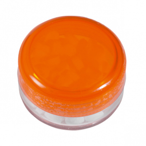 Round Plastic Container With Mints