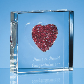 Diamante Heart Paperweight