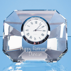 Optical Crystal Wedge Clock