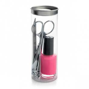 4pc Manicure Set including a Nail Polish in a PVC Tube