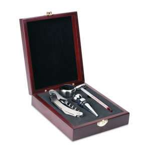 Premium Classic Wine Set In Wooden Box
