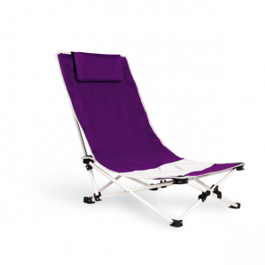 Capri Beach Chair With Neck Pillow In 600D Polyester Clothing Steel Frame