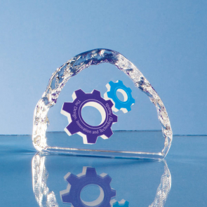 Optical Crystal Ice Block Paperweight