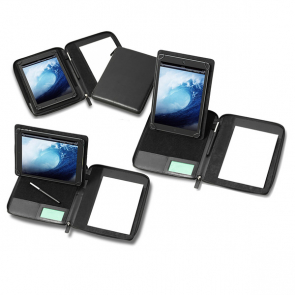 A5 Zipped Adjustable Tablet Holder with a Multi Position Tablet Stand