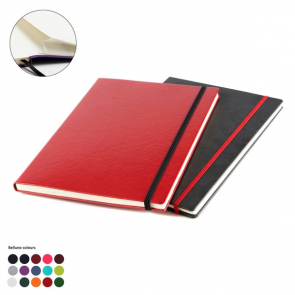 Belluno A4 Casebound Notebook with Elastic Strap