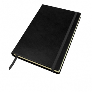 Richmond Deluxe Nappa Leather A5 Casebound Notebook with Elastic Strap and Envelope Pocket