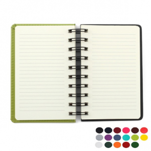 Belluno PU Colours A6 Wiro Notebook with soft touch leather look cover