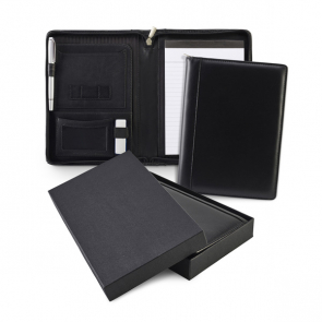 Sandringham Nappa Leather Zipped A5 Conference Folder