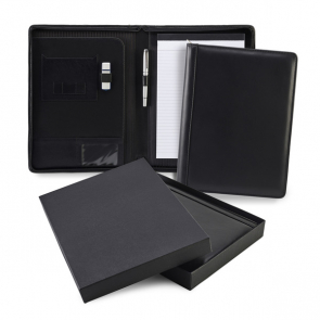 Sandringham Nappa Leather Zipped A4 Conference Pad Holder
