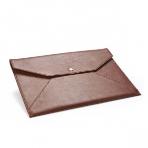 Sandringham Leather Under Arm Folio / Laptop Case with Press Stud to Close