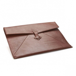 Sandringham Leather Under Arm Folio / Laptop Case with Strap to Close