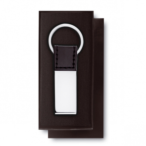 Rectanglo PU And Zinc Alloy Keyring