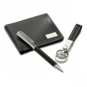 Eleganci Ball Pen Keyring And PU Wallet