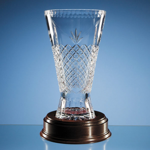 Lead Crystal Panelled Trophy Vase