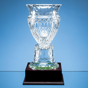 Lead Crystal Footed Trophy Vase