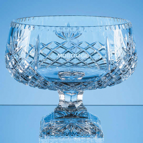 Lead Crystal Square Footed Presentation Bowl