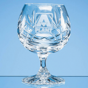 Glencoe Lead Crystal Panel Brandy Glass
