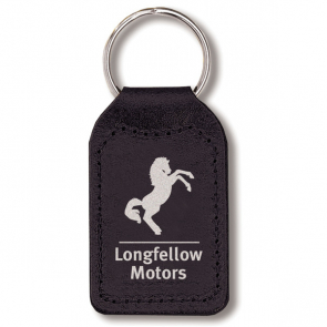 Small Rectangular Shaped Leather Keyfob