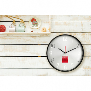 Rondo Wall Clock With Silver Background
