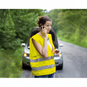 Visible Safety Vest In Knitted Mat'L