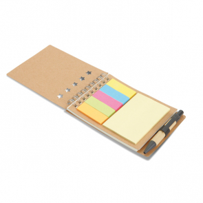 Multibook Recycled Notebook WithSticknotes