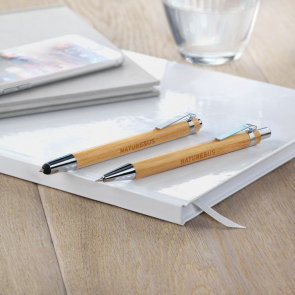 Bambooset Bamboo Pencil And Stylus Set